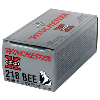 Winchester Super-X Rifle Ammunition .218 Bee 46 gr JHP 2760 fps - 50/box