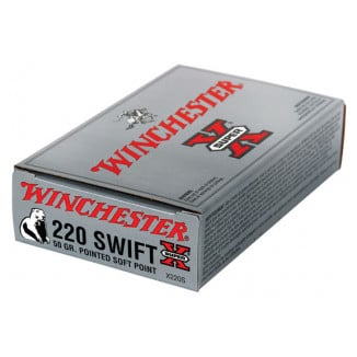 Winchester Super-X Rifle Ammunition .220 Swift 50 gr PSP 3870 fps - 20/box