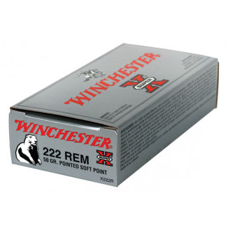 Winchester Super-X Rifle Ammunition .222 Rem 50 gr PSP 3140 fps - 20/box