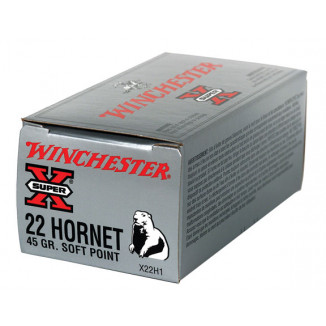 Winchester Super-X Rifle Ammunition .22 Hornet 45 gr PSP 2690 fps - 50/box