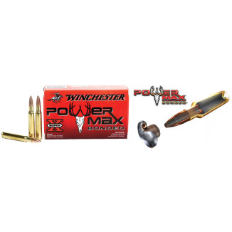 Winchester Super-X Power Max Bonded Rifle Ammunition .308 Win 150 gr PHP 2850 fps - 20/box