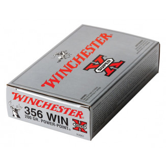 Winchester Super-X Power Point Rifle Ammunition .356 Win 200 gr PSP 2460 fps - 20/box