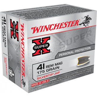 Winchester Super-X Handgun Ammunition .41 Mag 175 gr HP 1250 fps 20/box