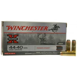 Winchester Super-X Rifle Ammunition .44-40 Win 200 gr SP 1190 fps - 50/box