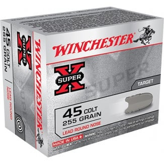 Winchester Super-X Handgun Ammunition .45 Colt 255 gr LRN 860 fps 20/box