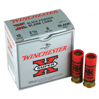 "Winchester Super-X Blank Cartridges 10 ga 2 3/4"" 6 dr  Blackpowder  - 25/box"