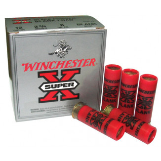 "Winchester Super-X Blank Cartridges 12 ga 2 3/4"" 6 dr  Blackpowder  - 25/box"