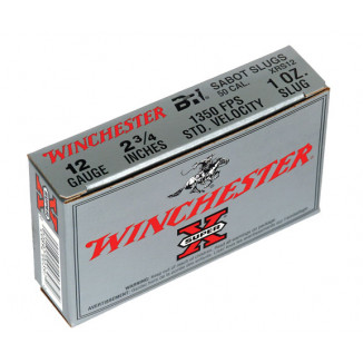 "Winchester Super-X Slug 12 ga 2 3/4""  1 oz Slug  - 5/box"