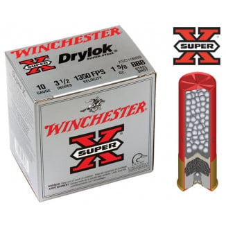 "Winchester Super-X Drylok Super Steel 10 ga 3 1/2"" MAX 1 5/8 oz #BBB  - 25/box"