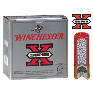 "Winchester Super-X Drylok Super Steel 12 ga 3"" MAX 1 1/4 oz #2 1265 fps - 25/box"