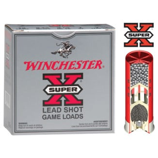"Winchester Super-X Game 12 ga 2 3/4"" 3 1/4 dr 1 oz #6 1290 fps - 25/box"