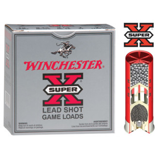 "Winchester Super-X Heavy Game 12 ga 2 3/4"" 3 1/4 dr 1 1/8 oz #4 1255 fps - 25/box"