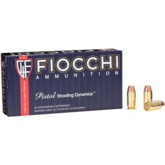 Fiocchi Pistol Shooting Dynamics Handgun Ammunition .40 S&W 170 gr FMJ 1020 fps 50/box