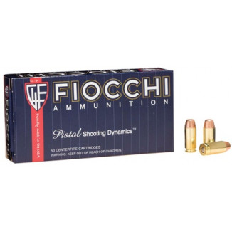 Fiocchi Pistol Shooting Dynamics Handgun Ammunition .40 S&W 180 gr FMJ-FN 1000 fps 50/box