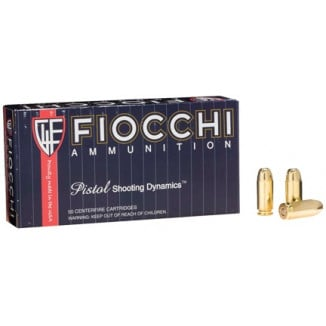 Fiocchi Pistol Shooting Dynamics Handgun Ammunition .40 S&W 165 gr FMJ 1000 fps 50/box