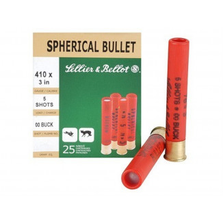 "Sellier & Bellot Shotgun Ammunition .410 ga 3""  5 plts #00  - 25/box"