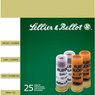 "Sellier & Bellot Shotgun Ammunition 12 ga 2 3/4""  1 ball Rubber  - 25/box"