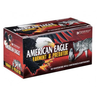 Federal American Eagle Varmint & Predator Rifle Ammunition 6.8 SPC 90 gr JHP 50/ct