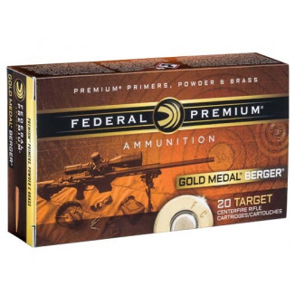 Federal Gold Medal Berger Hybrid Rifle Ammunition 6.5 Creedmoor 130 gr 2875 fps 20/ct