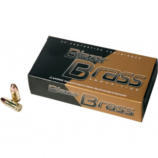 CCI Blazer Brass Handgun Ammunition .40 S&W 180 gr FMJ 985 fps 50/box