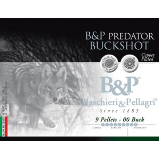 B&P Predator Buckshot Shotshells- 12 ga 2-3/4 In 1-9/16 oz #00 1280 fps 10/ct