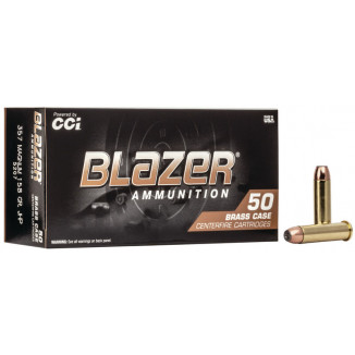 CCI Blazer Brass Handgun Ammunition .357 Mag 158 gr JHP 1150 fps 50/ct