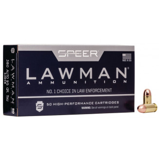 Speer Lawman Handgun Ammunition .380 ACP 95 gr TMJ 950 fps 50/ct