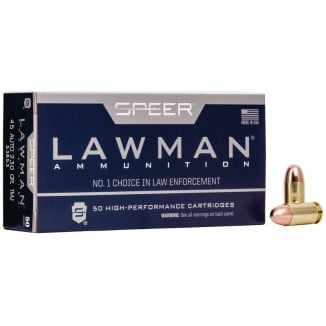 Speer Lawman Handgun Ammunition .45 ACP 230 gr TMJ 830 fps 50/ct