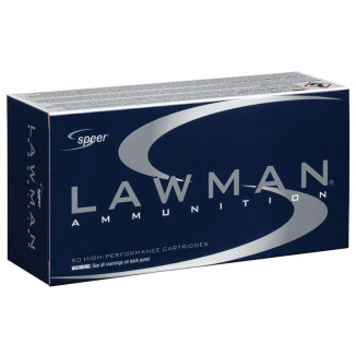 Speer Lawman Handgun Ammunition .38 Spl (+P) 158 gr TMJ 900 fps 50/ct