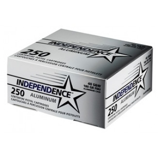 CCI Independence Aluminum Handgun Ammunition .40 S&W 180 gr FMJ 250/ct