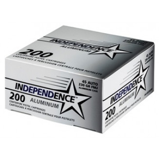 CCI Independence Aluminum Handgun Ammunition .45 ACP 230 gr FMJ 200/ct