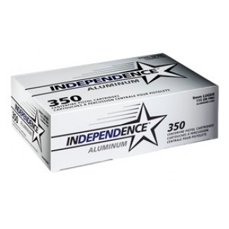 CCI Independence 9mm Luger Aluminum Handgun Ammunition 115 gr FMJ 350/ct