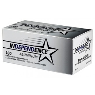 CCI Independence Aluminum Handgun Ammunition 9mm Luger 115 gr FMJ 100/ct