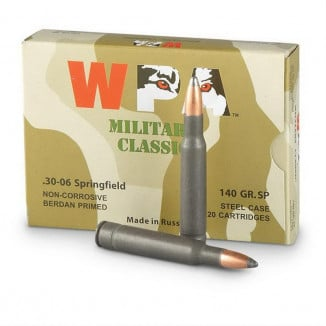 Wolf WPA Military Classic Rifle Ammunition .30-06 Sprg 140 gr SP  - 20/box