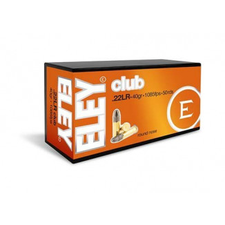 Eley Club Rimfire Ammunition .22 LR 40gr RN 1085 fps 50/ct