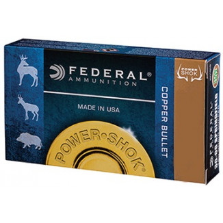 Federal Copper Power-Shok Rifle Ammunition .270 Win 130 gr CHP 3060 fps 20/ct