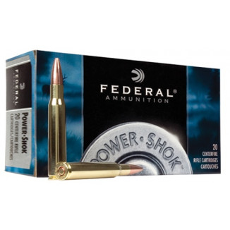 Federal Power-Shok Rifle Ammunition .270 Win 130 gr RNSP 3060 fps - 20/box