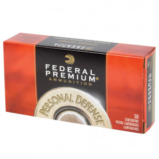 Federal Premium Personal Defense Handgun Ammunition .357 Sig 125gr JHP 1350fps 50/Box