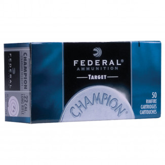 Federal Champion Target .22 LR 40 gr SLD Rimfire Ammunition - 50/box