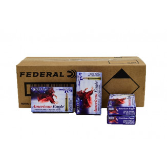 Federal American Eagle Rifle Ammunition .223 Rem 55 gr FMJBT 3240 fps - 500/ct