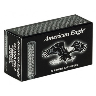Federal American Eagle Rimfire Rifle Ammunition .22 LR 45 gr RN 970 fps 50/Box