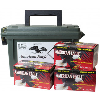 American Eagle .45 ACP 230 gr FMJ Handgun Ammunition-890 fps 300/ct