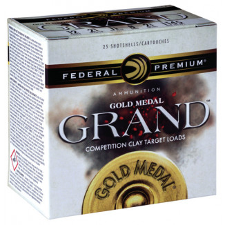 "Federal Gold Medal Grand Shotshells 12ga 2-3/4"" 1-1/8oz 1235 fps #7.5 25/ct"
