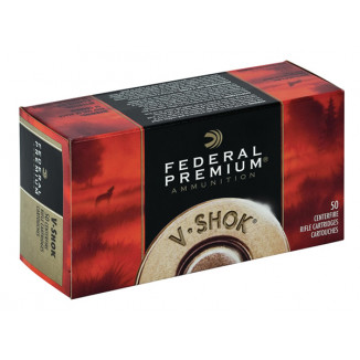 Federal Premium V-Shok Rifle Ammunition .22 Hornet 30 gr TNT HP 3150 fps - 50/box
