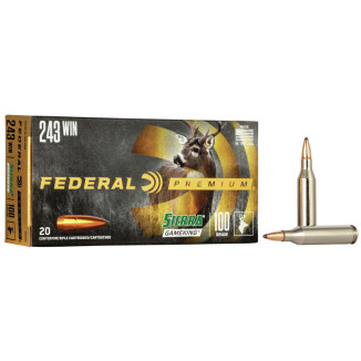 Federal Premium Sierra GameKing Rifle Ammunition .243 Win 100 gr BTSP 2960 fps 20/ct