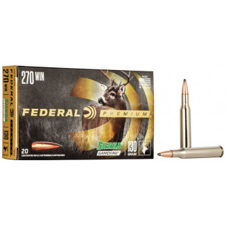 Federal Premium Sierra GameKing Rifle Ammunition .270 Win 130 gr BTSP 3060 fps 20/ct