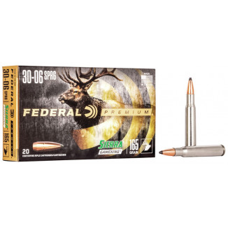 Federal Premium Sierra GameKing Rifle Ammunition .30-06 Sprg 165 gr BTSP 2800 fps 20/ct