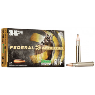 Federal Premium Sierra GameKing Rifle Ammunition .30-06 Sprg 150 gr BTSP 2910 fps 20/ct