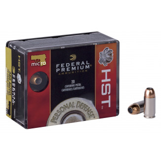 Federal Premium Personal Defense HST Handgun Ammunition .380 ACP 99 gr HST 20/box