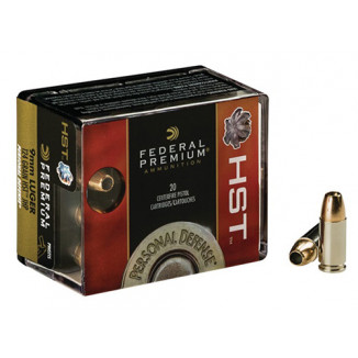 Federal Premium Personal Defense HST Handgun Ammunition  9mm Luger 124gr 1150fps HST 20/ct